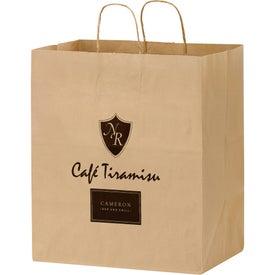 Natural Kraft Paper Shopper Bag