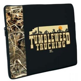 Neoprene Laptop Sleeve with Licensed Camo Accent Panel