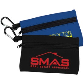 Neoprene Zipper Bag with Carabiner Giveaways