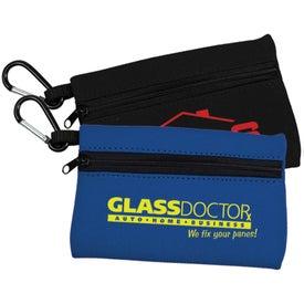 Neoprene Zipper Bag with Carabiner