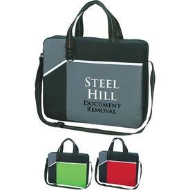 Monogrammed Network Briefcase/Messenger Bag