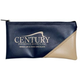 New Two-Tone Horizontal Bank Bag