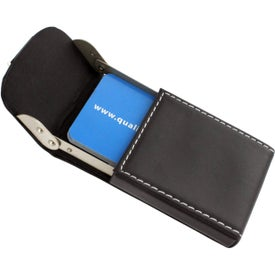 Noir III Business Card Case with Your Logo