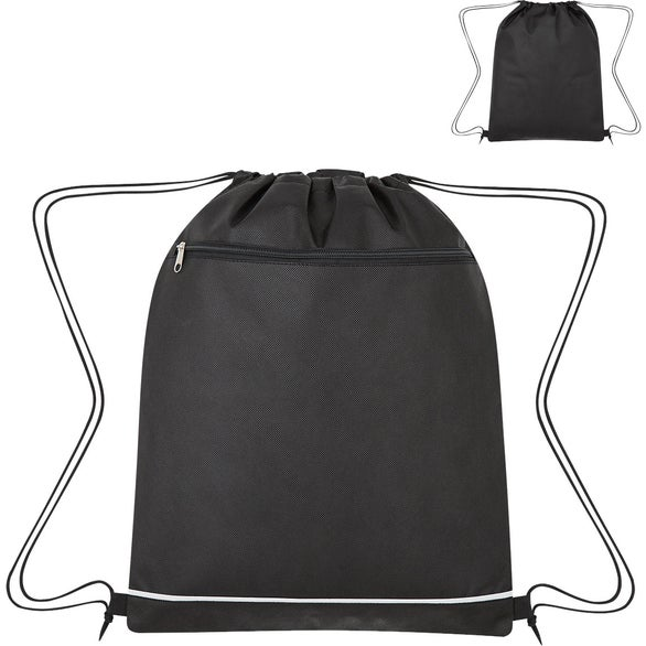 Black Non-Woven Bandura Drawstring Bag
