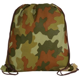Promotional Non Woven Camo Drawstring Backpack