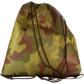 Non Woven Camo Drawstring Backpacks