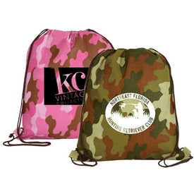 Non Woven Camo Drawstring Backpack
