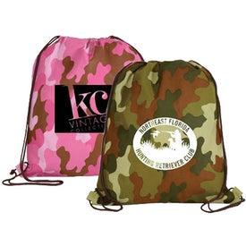 Custom Non Woven Camo Drawstring Backpack