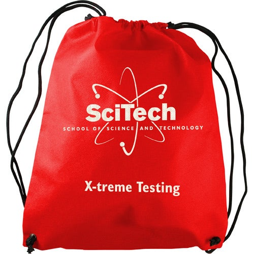 Red Non-Woven Drawstring Backpack