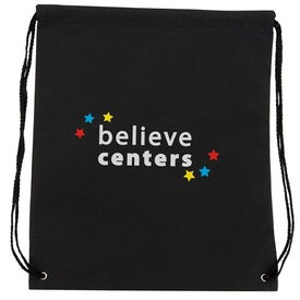 Non-Woven Drawstring Backpack Branded with Your Logo