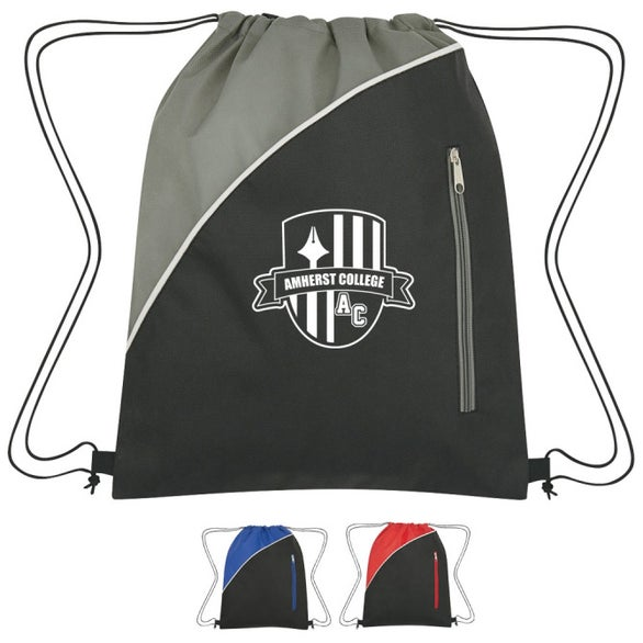 2746e53ff1ea Promotional Non-Woven Hit Sports Pack With Front Zippers with Custom ...