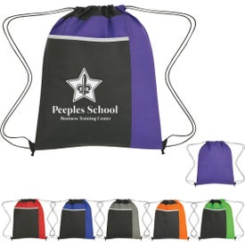 Non-Woven Drawstring Pack with Large Front Pocket