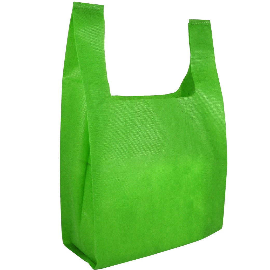 Non woven lite grocery bag custom bags ea for Personalized t shirt bags