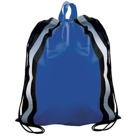Branded Non-Woven Reflective Drawstring Backpack