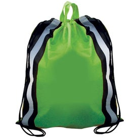 Monogrammed Non-Woven Reflective Drawstring Backpack