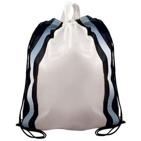 Non-Woven Reflective Drawstring Backpack with Your Logo