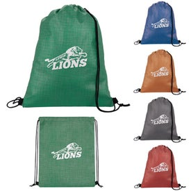 Non-Woven Shimmer Drawstring Backpacks