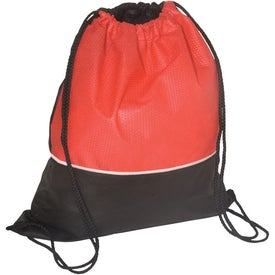 Branded Non-Woven Textured String Backpack - 80GSM