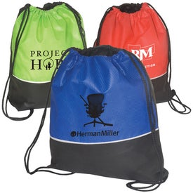 Non-Woven Textured String Backpack - 80GSM Branded with Your Logo