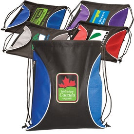 Logo Non-Woven Zip-Side Backpack - 80GSM