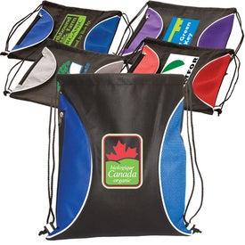 Custom Non-Woven Zip-Side Backpack - 80GSM
