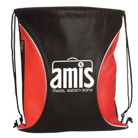 Non-Woven Zip-Side Backpack - 80GSM for Customization