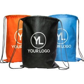 Non Woven Cinch Up Back Pack Printed with Your Logo