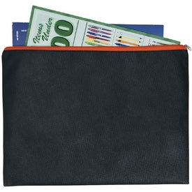 Non-woven Document Sleeve with Zipper Imprinted with Your Logo