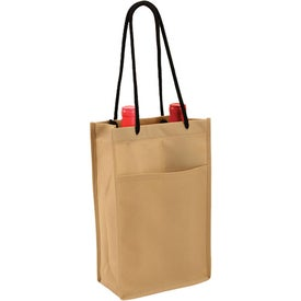 Non Woven Double Bottle Wine Bag Branded with Your Logo