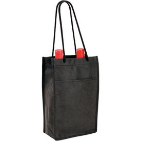 Non Woven Double Bottle Wine Bag (Screen Print)