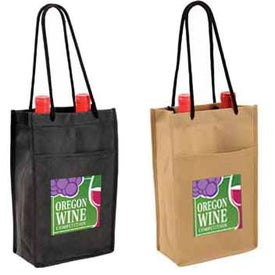 Non Woven Double Bottle Wine Bags (Full Color Logo)