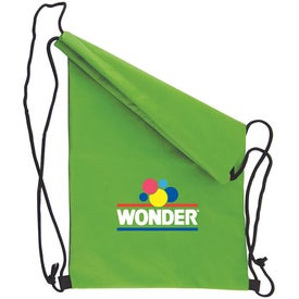 Non Woven Draw String Backpack Imprinted with Your Logo