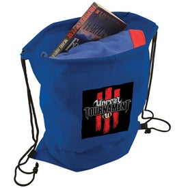 Non Woven Draw String Backpack Branded with Your Logo
