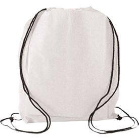 Advertising Water Resistant Non Woven Drawstring Backpack