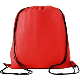 Water Resistant Non Woven Drawstring Backpack Printed with Your Logo