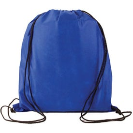 Logo Water Resistant Non Woven Drawstring Backpack