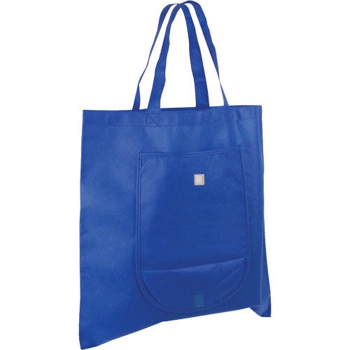 Blue Non Woven Fold and Go Tote Bag