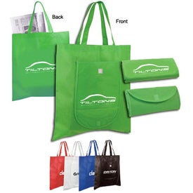 Non Woven Fold and Go Tote Bag (Full Color Logo)