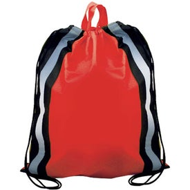 Reflective Drawstring Backpack with Your Logo