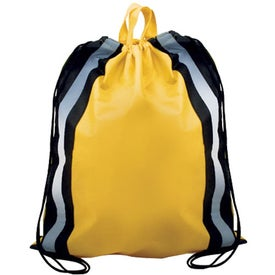 Personalized Reflective Drawstring Backpack