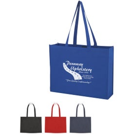 Non-woven Shopper Tote with Velcro Closure Printed with Your Logo