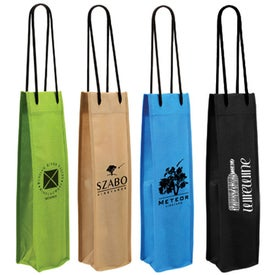 Non Woven Single Bottle Wine Bag (Screen Print)