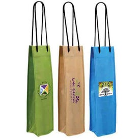 Non Woven Single Bottle Wine Bag (Full Color Logo)