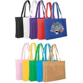 "Non-Woven Tote Bag (15"" x 12"" x 3"", Full Color Logo)"