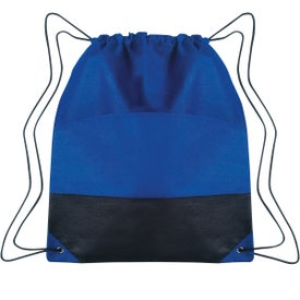 Monogrammed Non-woven Two-tone Drawstring Sports Pack