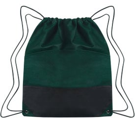 Non-woven Two-tone Drawstring Sports Pack for Customization