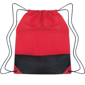 Non-woven Two-tone Drawstring Sports Pack Imprinted with Your Logo