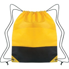 Non-woven Two-tone Drawstring Sports Pack Printed with Your Logo