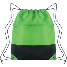 Advertising Non-woven Two-tone Drawstring Sports Pack