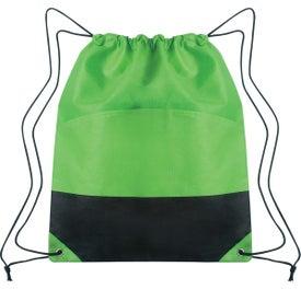 Custom Non-woven Two-tone Drawstring Sports Pack